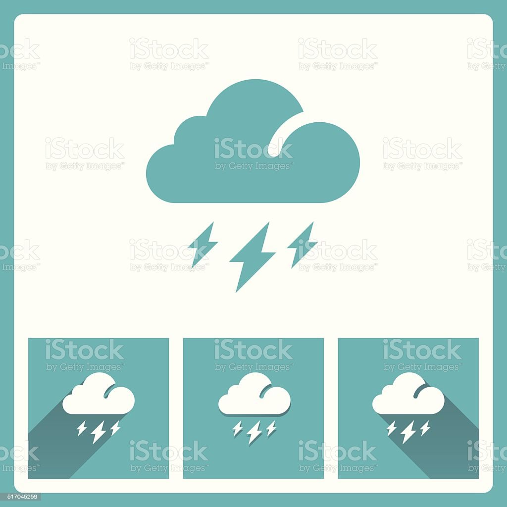 Cloud icons vector art illustration
