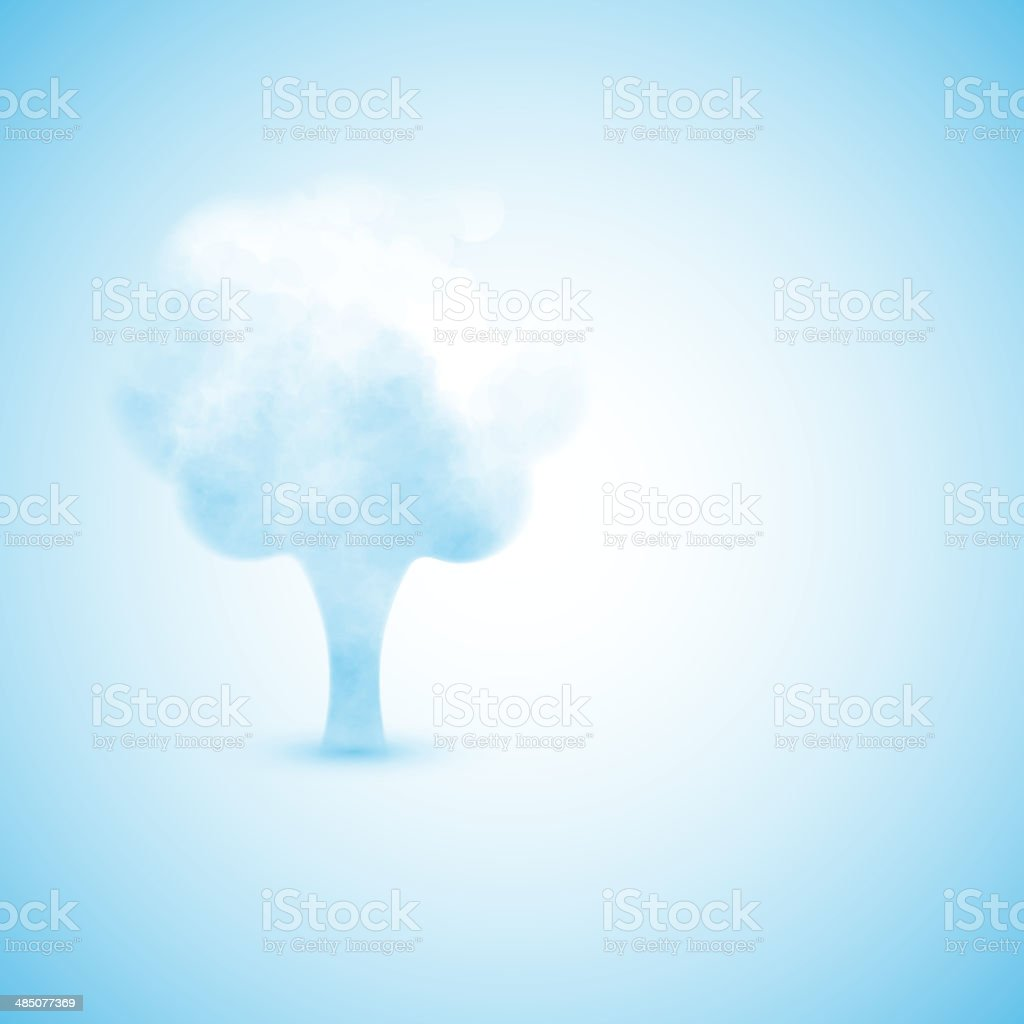 Cloud in the form of a tree royalty-free stock vector art