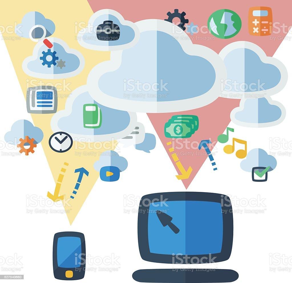Cloud Internet vector art illustration