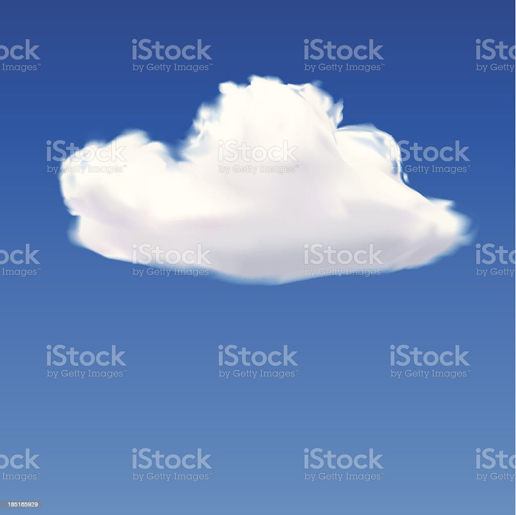 Cloud isolate royalty-free stock vector art