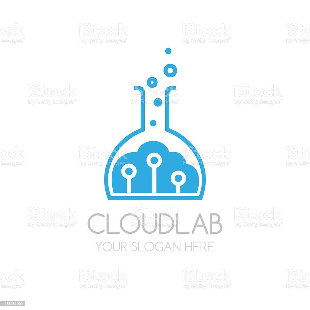 Cloud Lab logo template vector art illustration