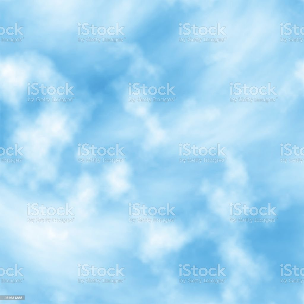 Cloud layers vector art illustration