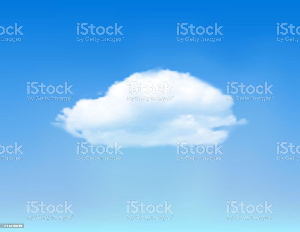 Cloud on blue sky. vector art illustration