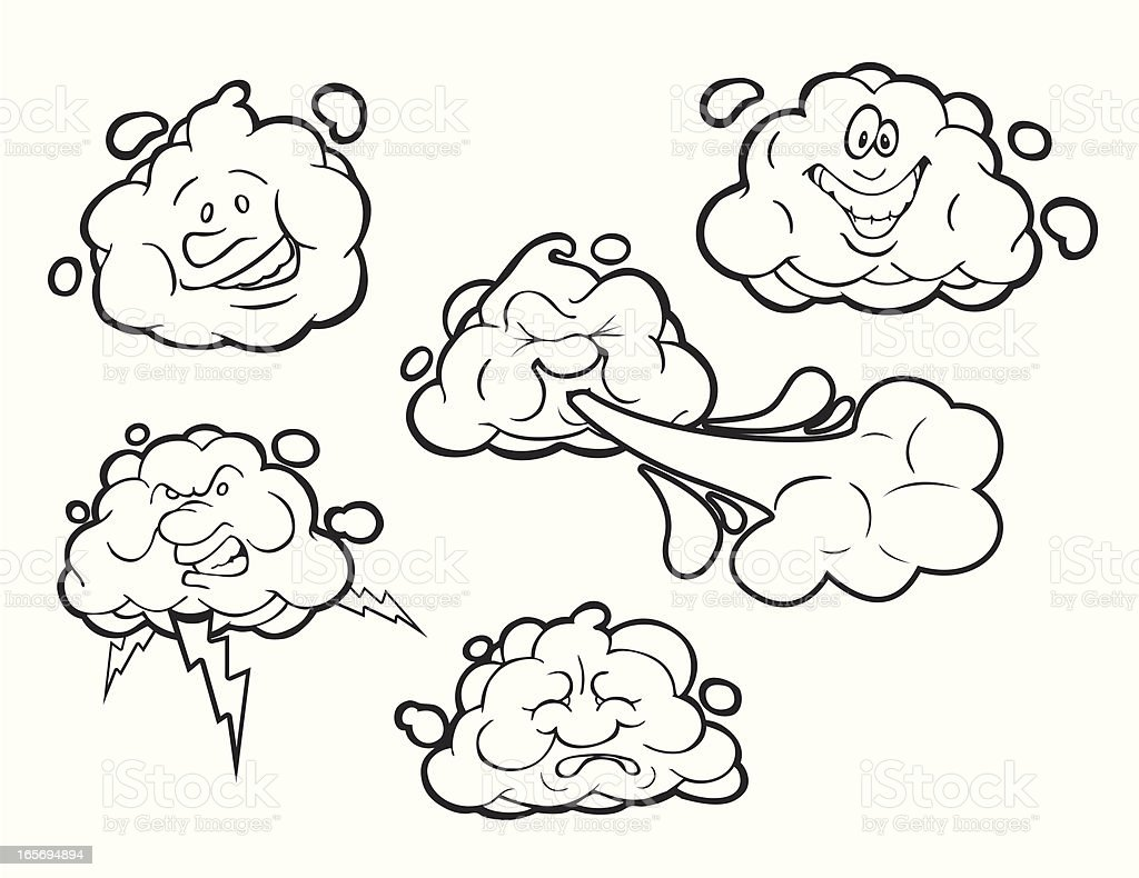 Cloud Personality - Line-Art royalty-free stock vector art
