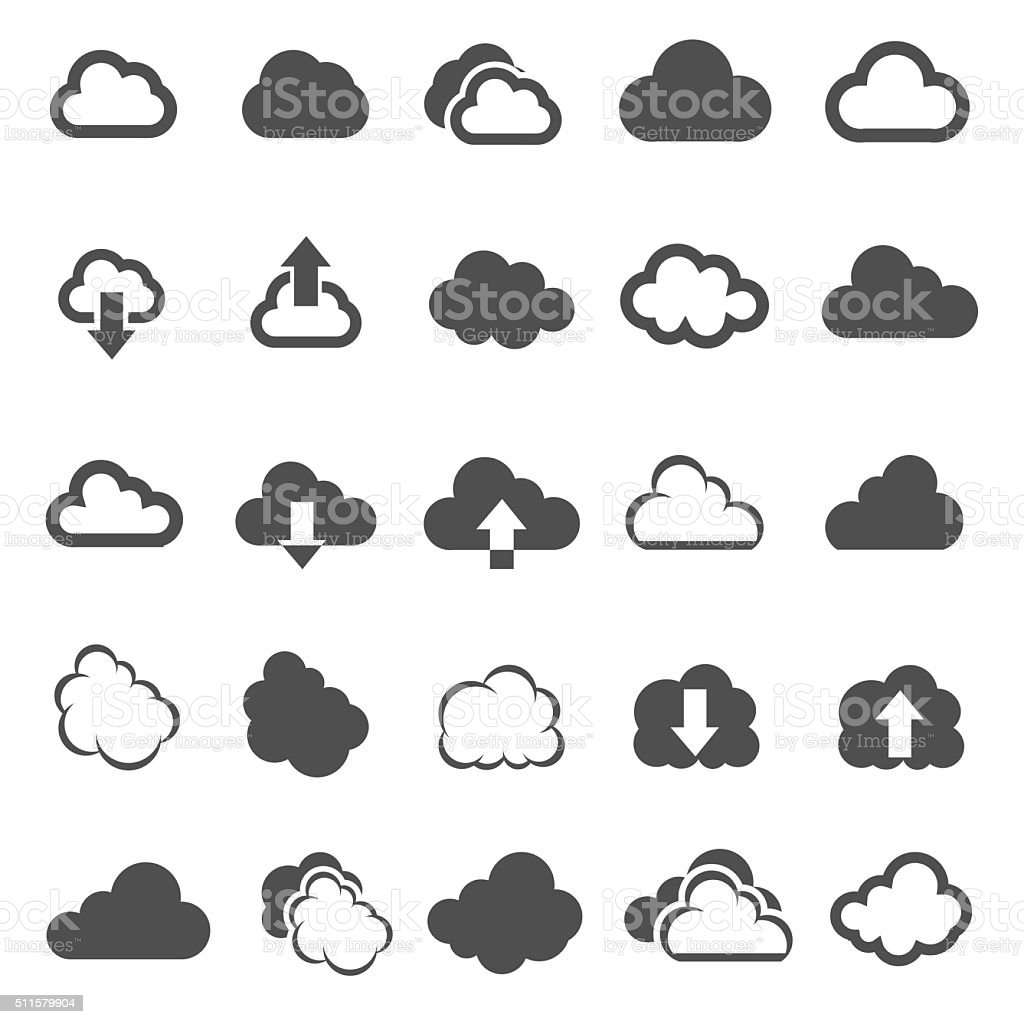 cloud shapes - Illustration vector art illustration