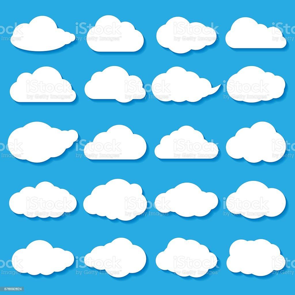 cloud shapes - Illustration vector art illustration