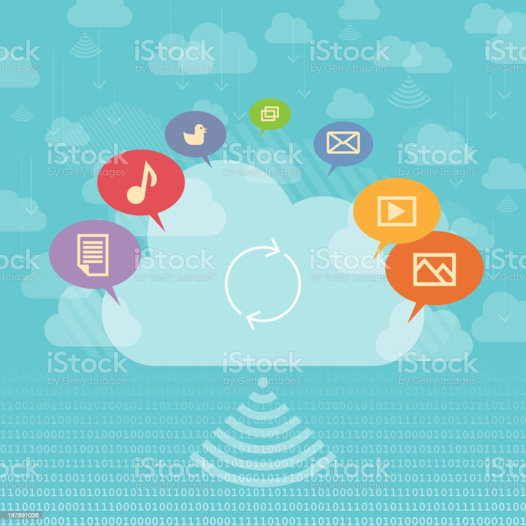 Cloud Sharing Concept royalty-free stock vector art