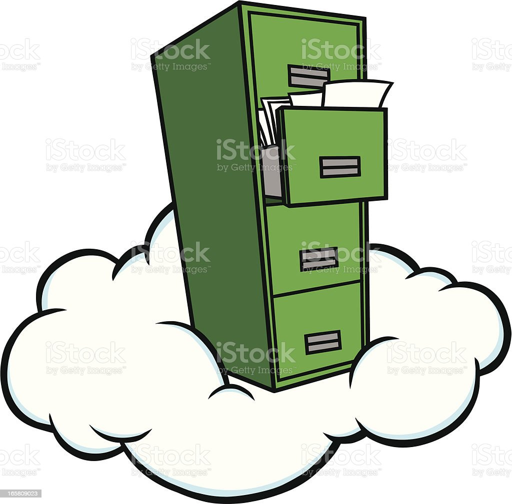 Cloud Storage royalty-free stock vector art
