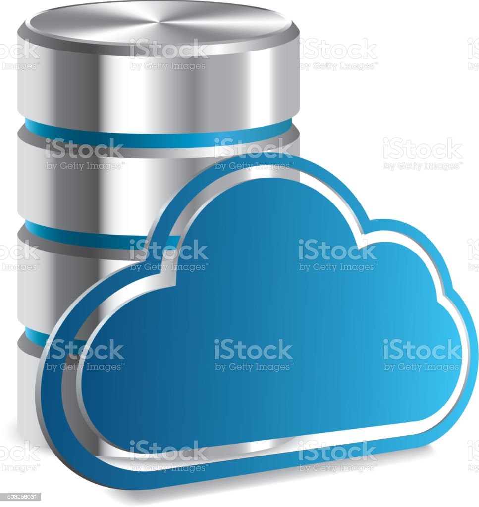 Cloud storage vector art illustration