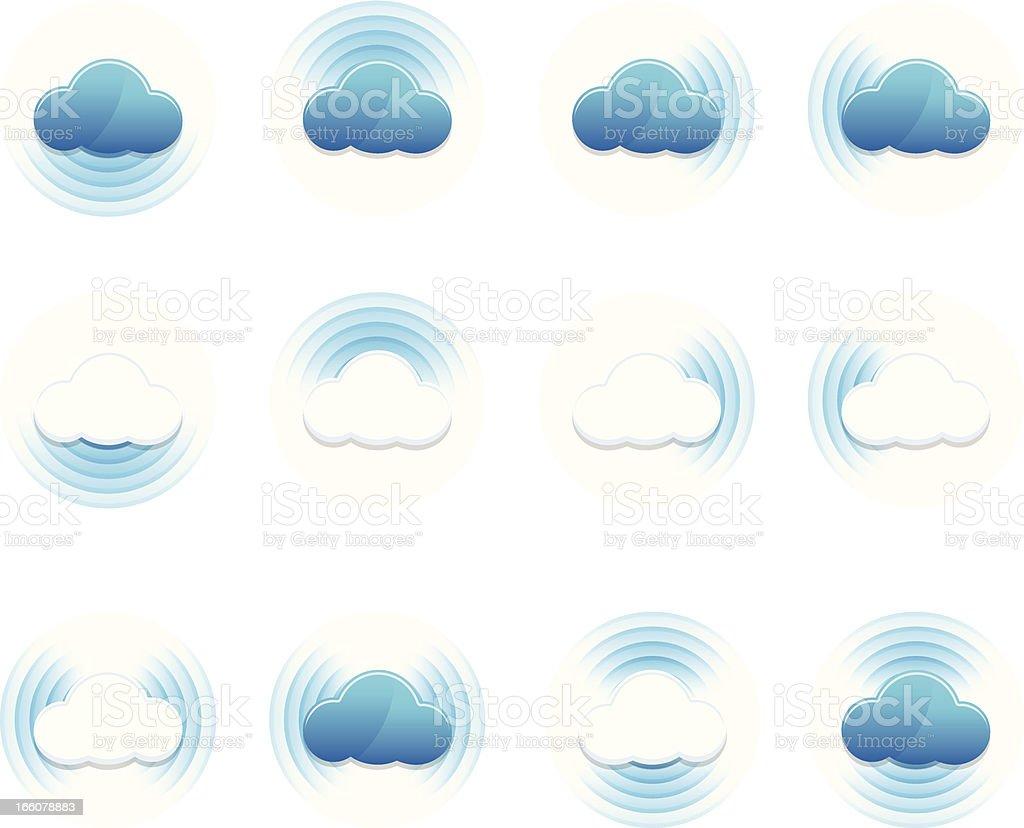 Cloud sync royalty-free stock vector art