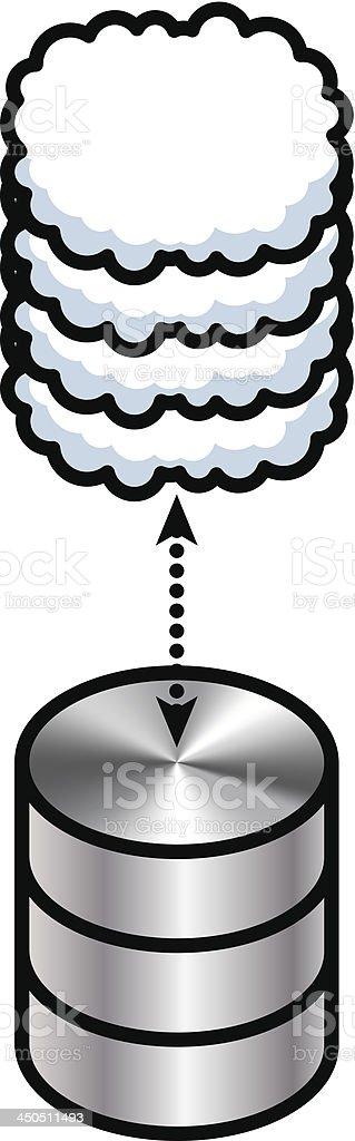 Cloud Sync vector art illustration