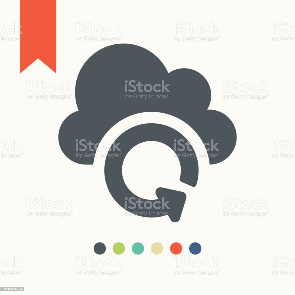 Cloud synchronization icon vector art illustration