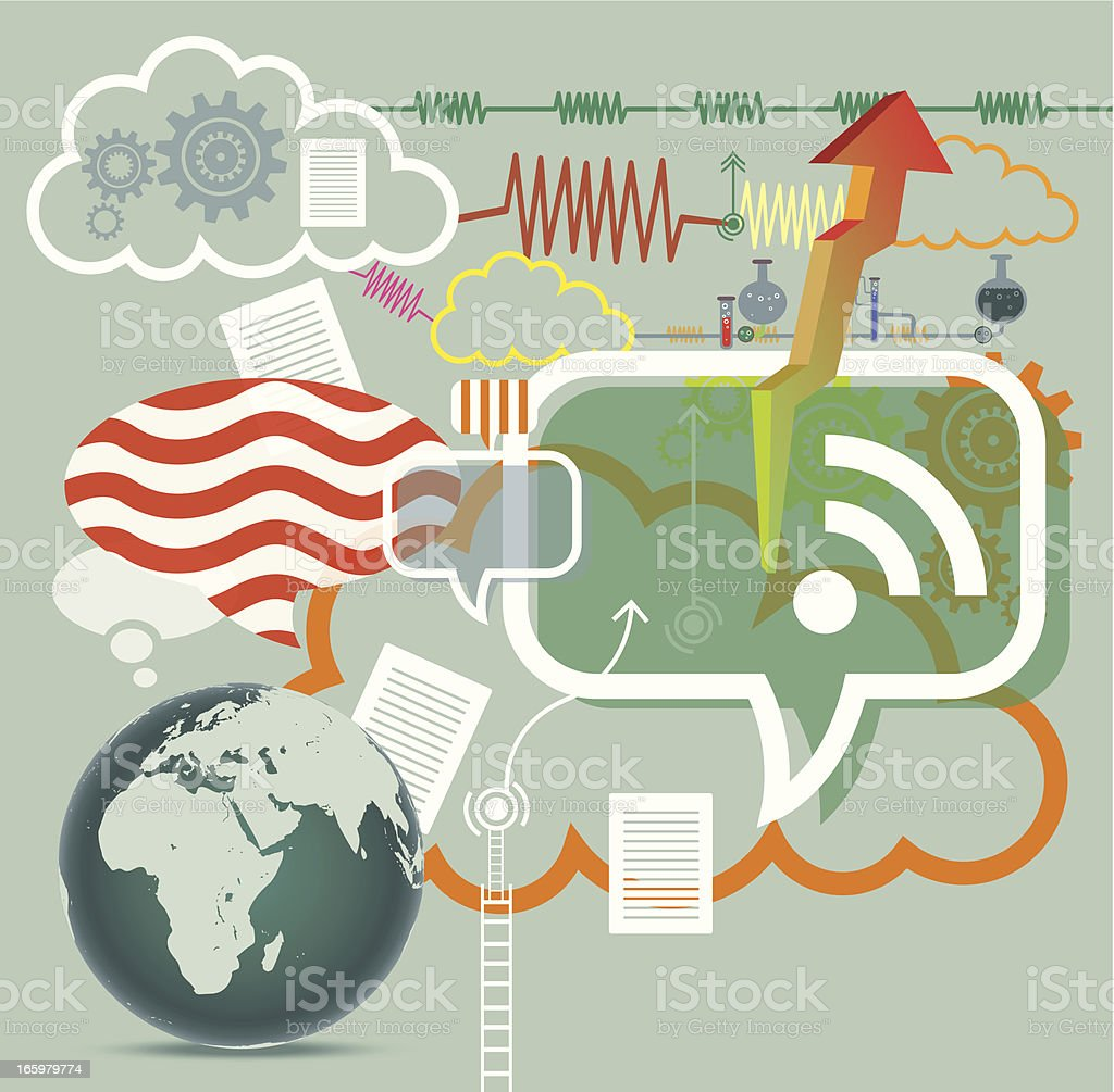 Cloud Technology royalty-free stock vector art