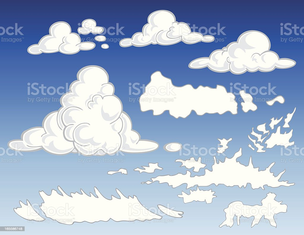 Cloud Types royalty-free stock vector art