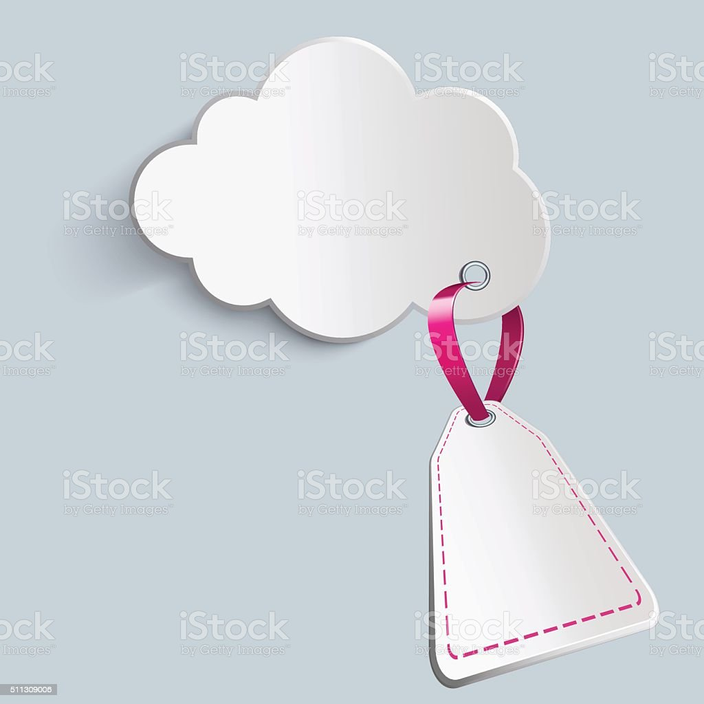cloud with prospective price vector art illustration
