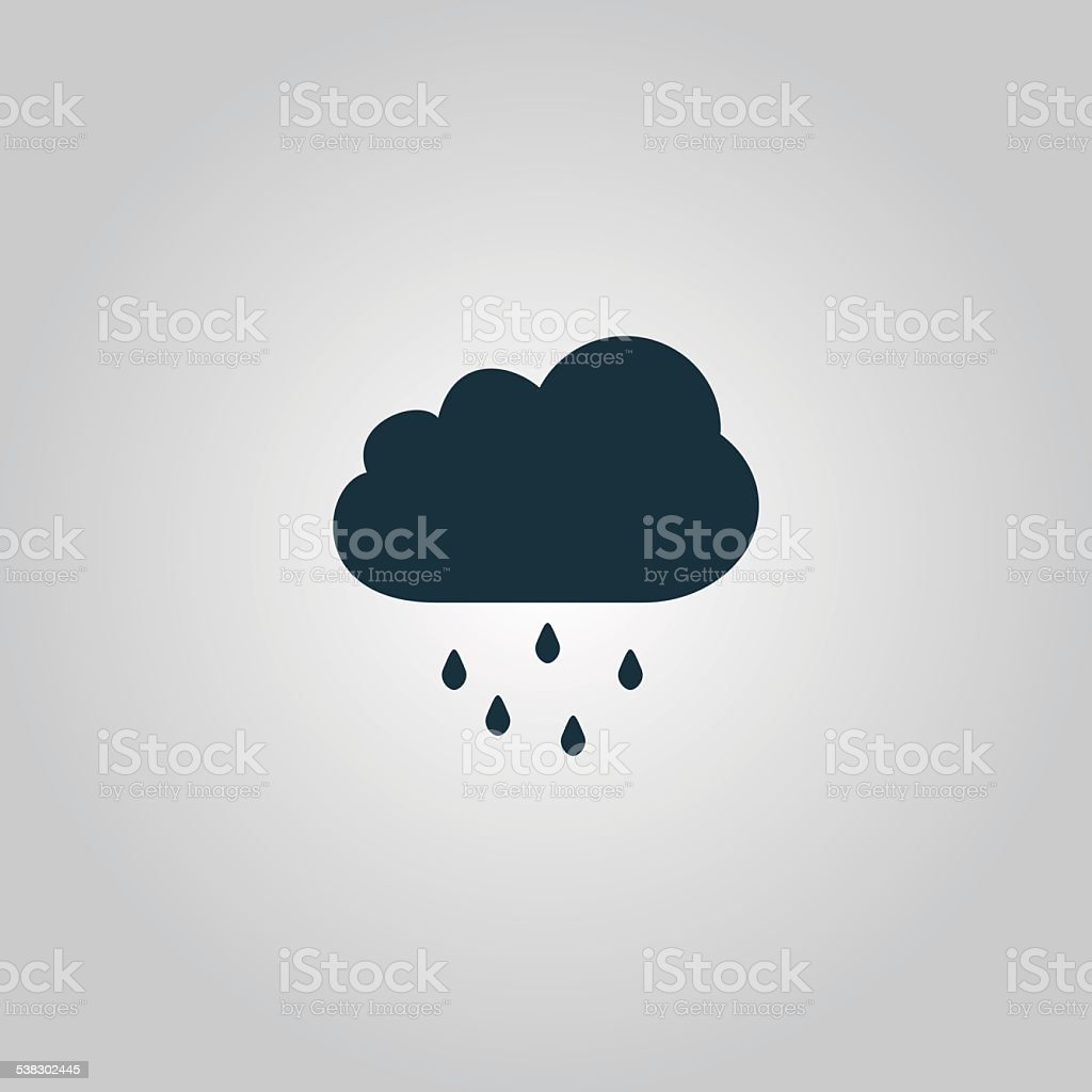 Cloud with rain weather vector icon vector art illustration