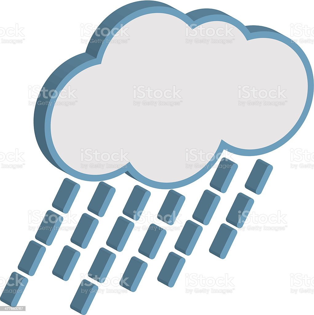 Cloud with raindrops weather forecast. royalty-free stock vector art