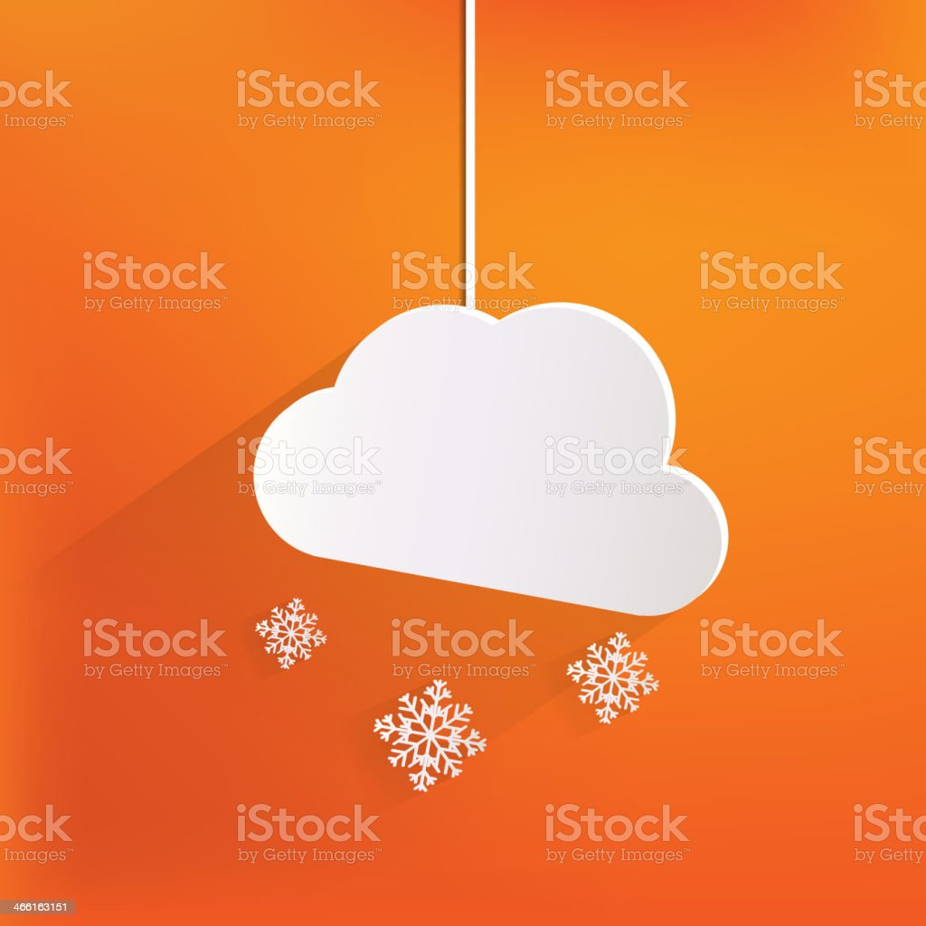 Cloud with snow web icon royalty-free stock vector art