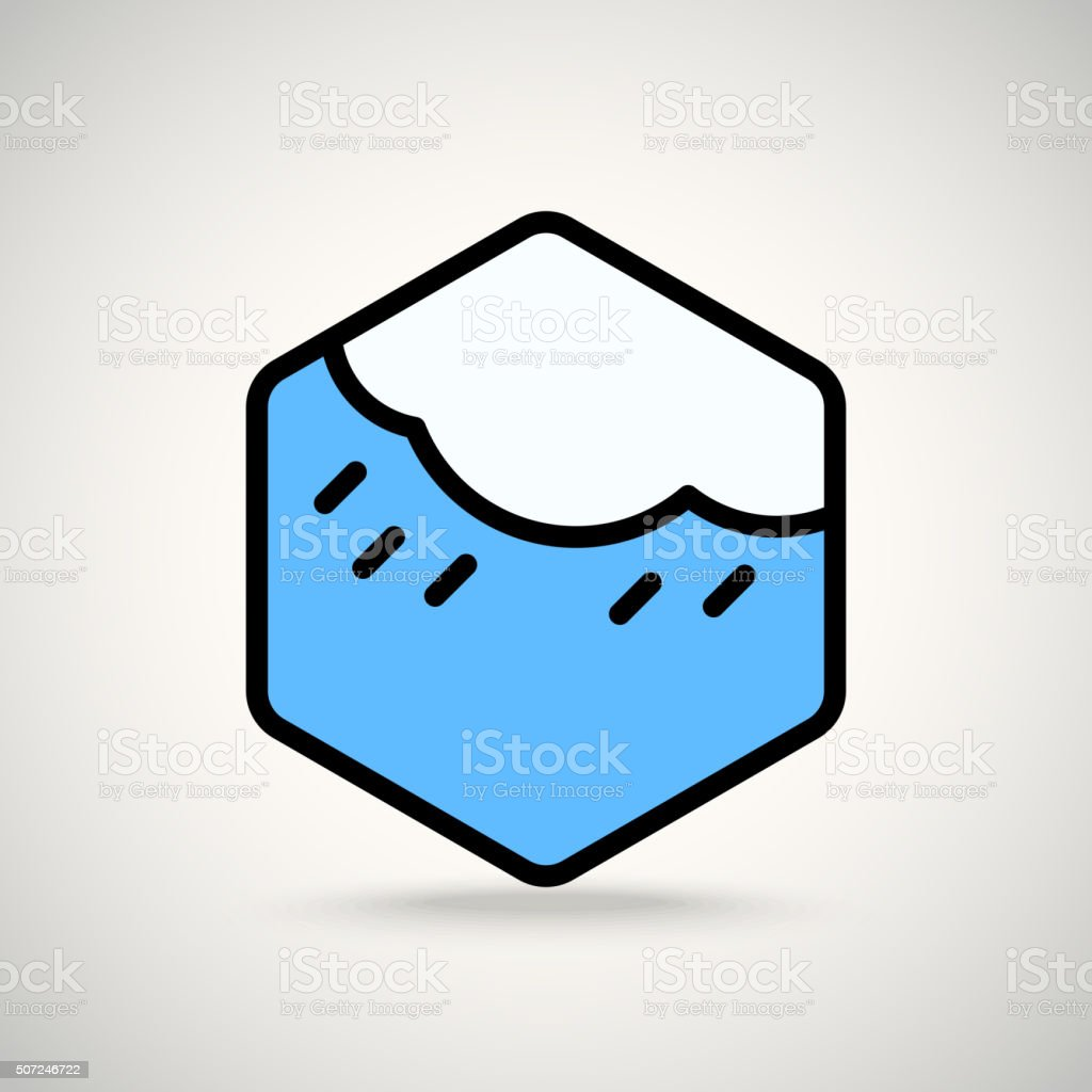 Cloud with the rain. Appication or web interface icon vector art illustration
