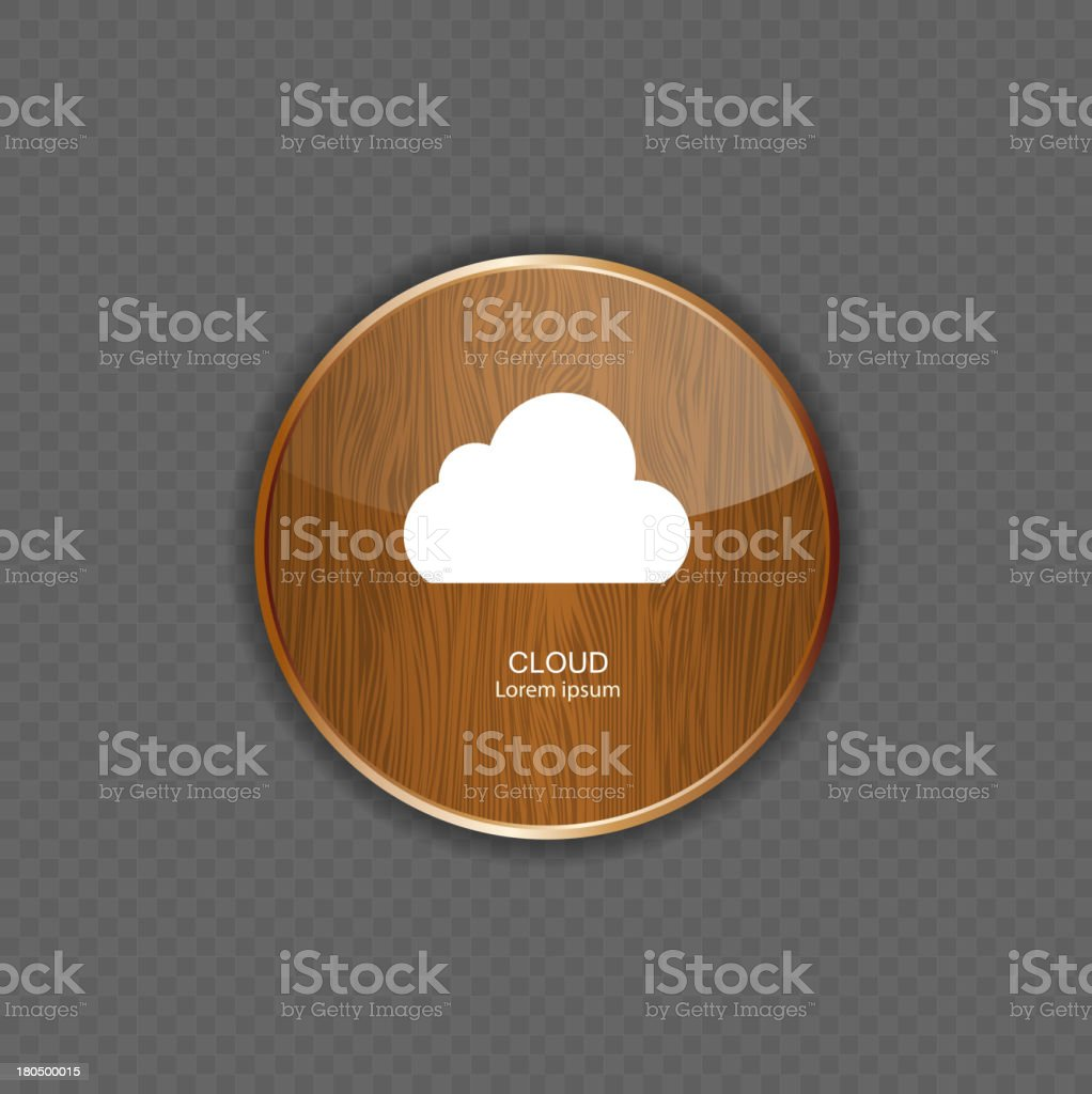 Cloud wood application icons royalty-free stock vector art