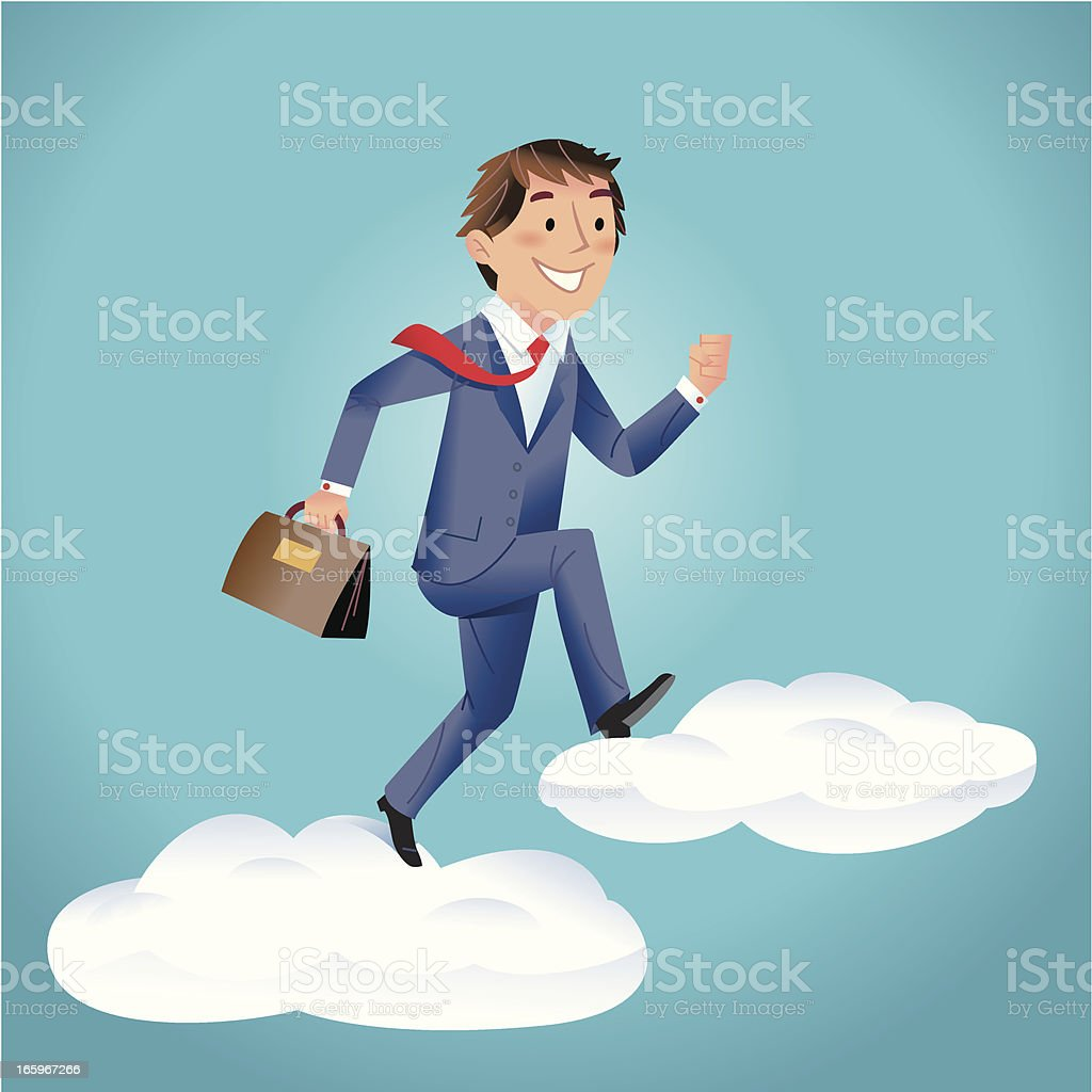 Cloud Worker royalty-free stock vector art