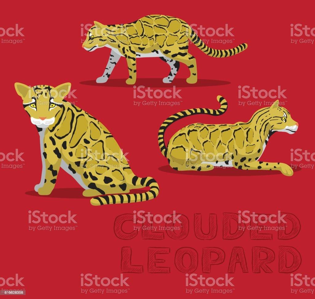 Clouded Leopard Cartoon Vector Illustration vector art illustration