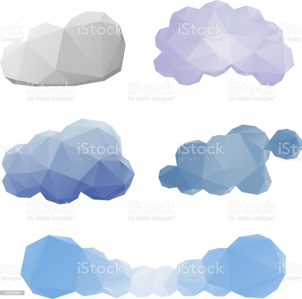 Clouds abstract set royalty-free stock vector art