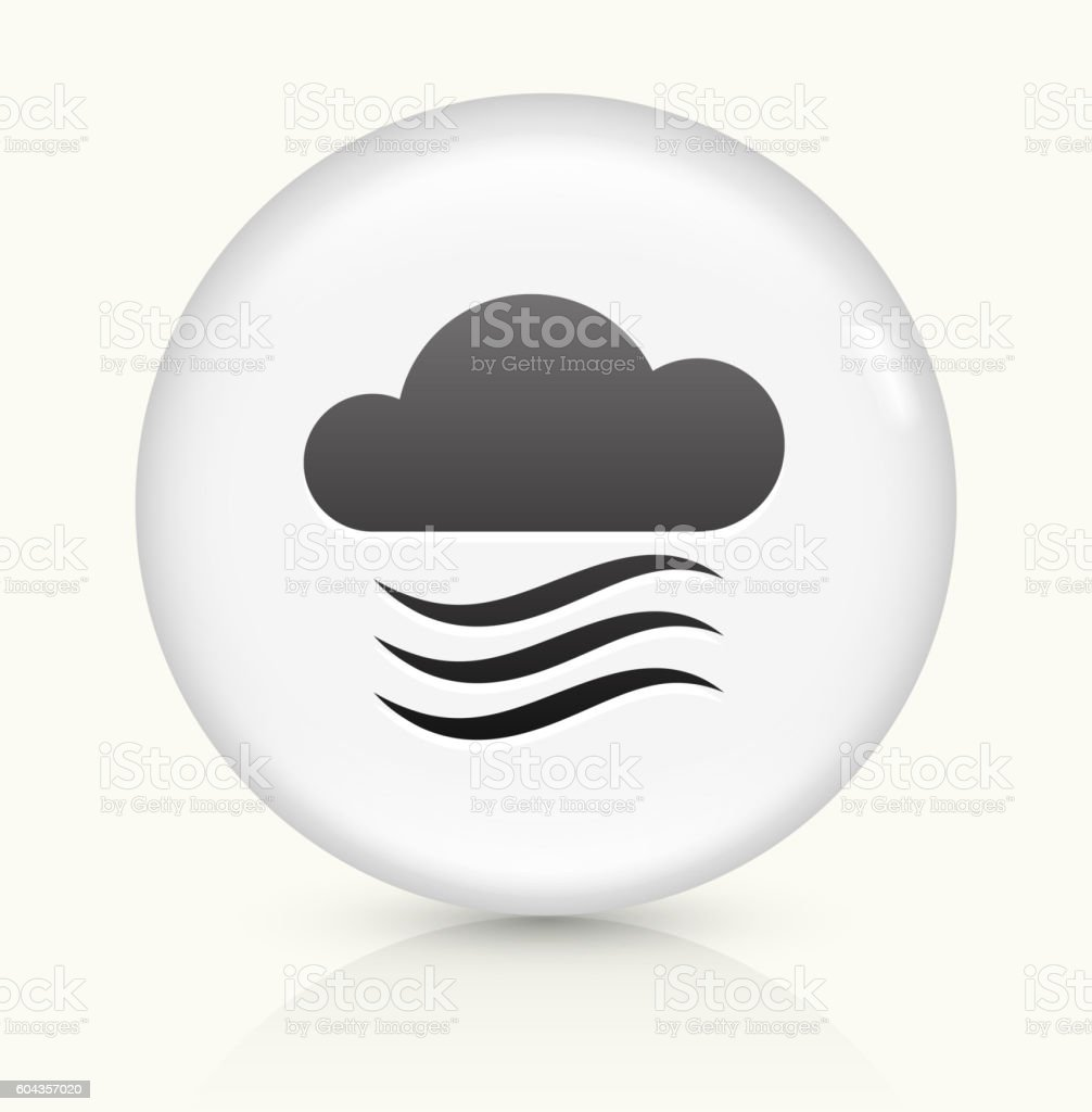 Clouds and Wind icon on white round vector button vector art illustration
