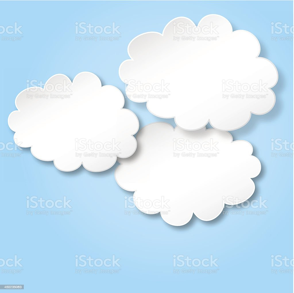 clouds as background royalty-free stock vector art