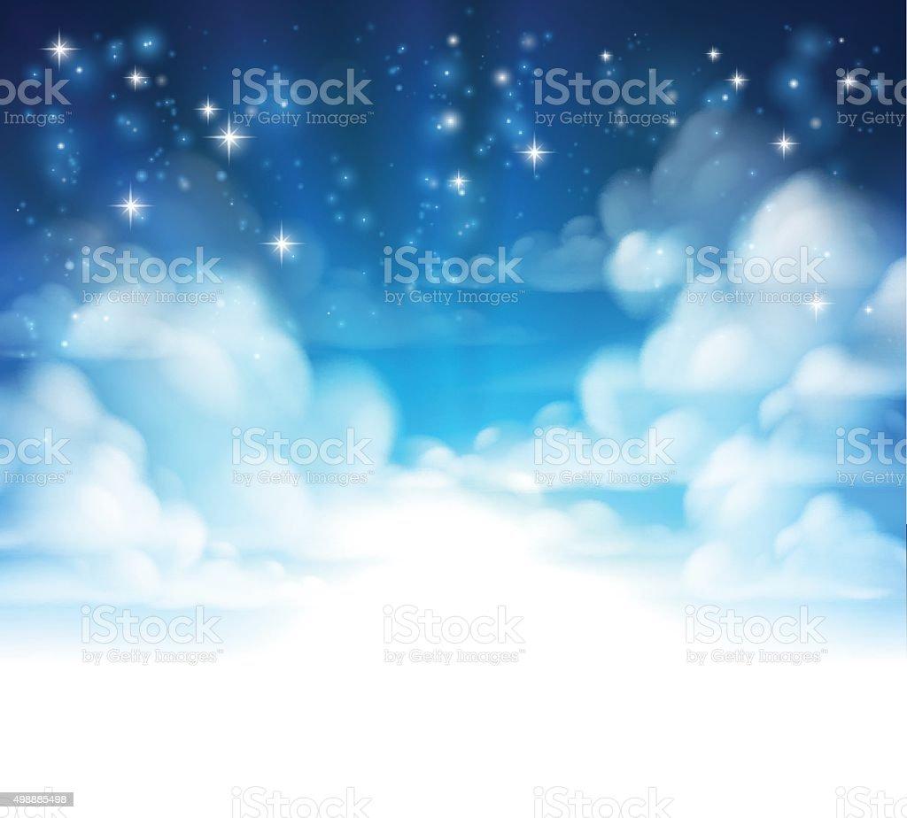 Clouds Background Header vector art illustration