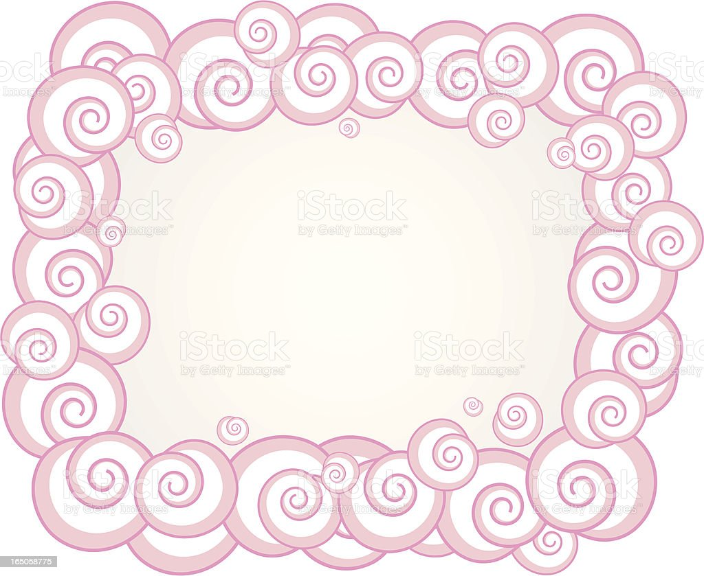 Clouds border royalty-free stock vector art