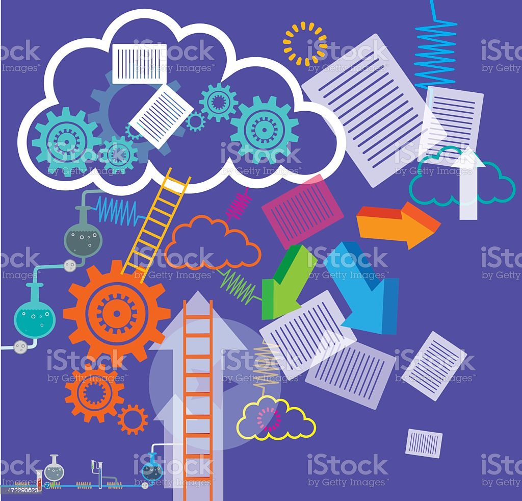 Clouds Computing royalty-free stock vector art
