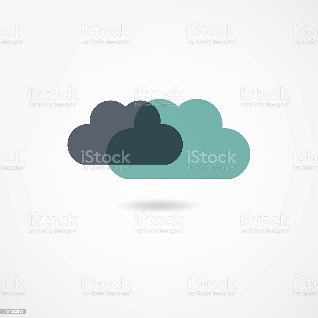 clouds icon royalty-free stock vector art