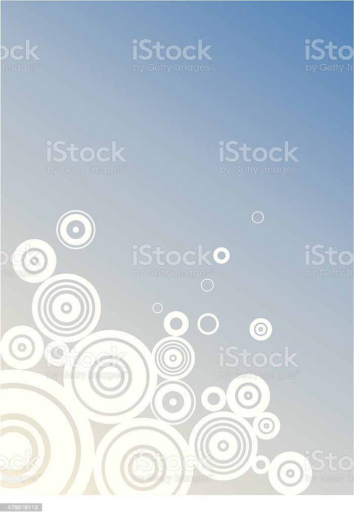 Clouds in circles - blue background royalty-free stock vector art