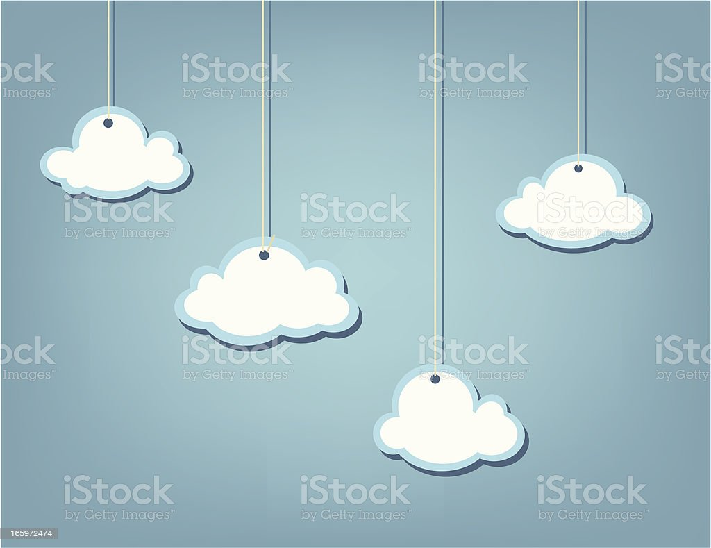 Clouds on a string royalty-free stock vector art