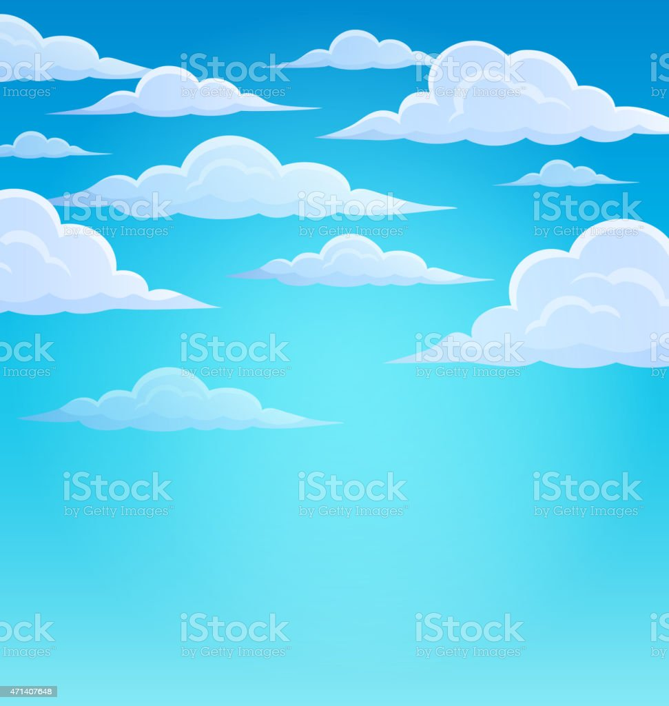 Clouds on sky theme 1 vector art illustration