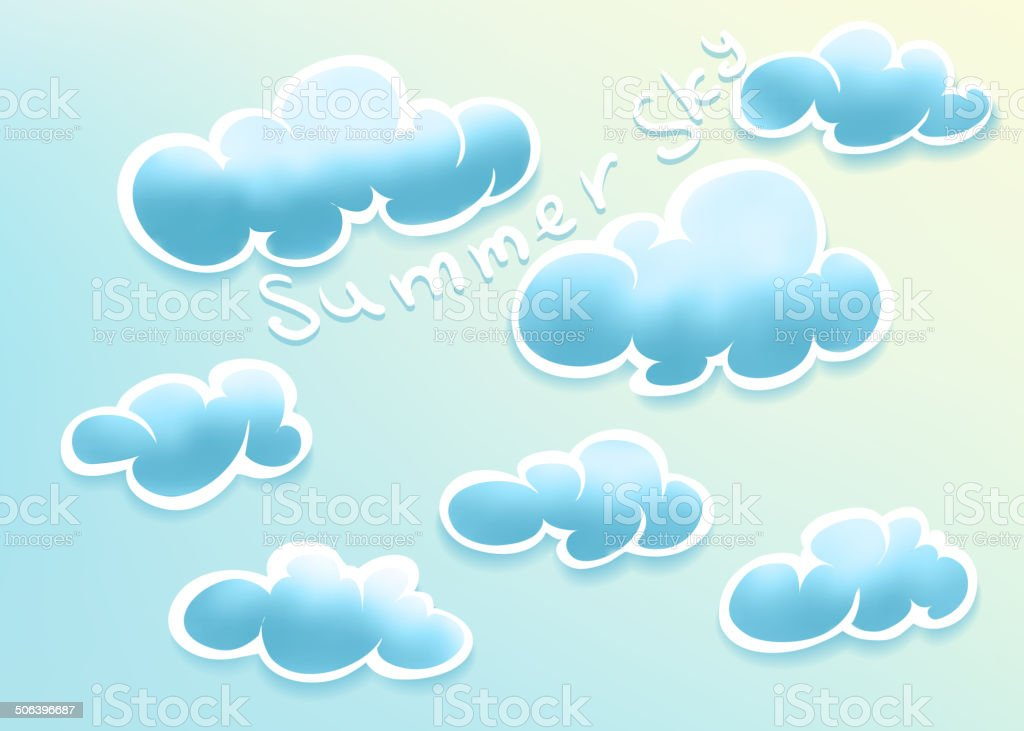 Clouds on summer sky royalty-free stock vector art