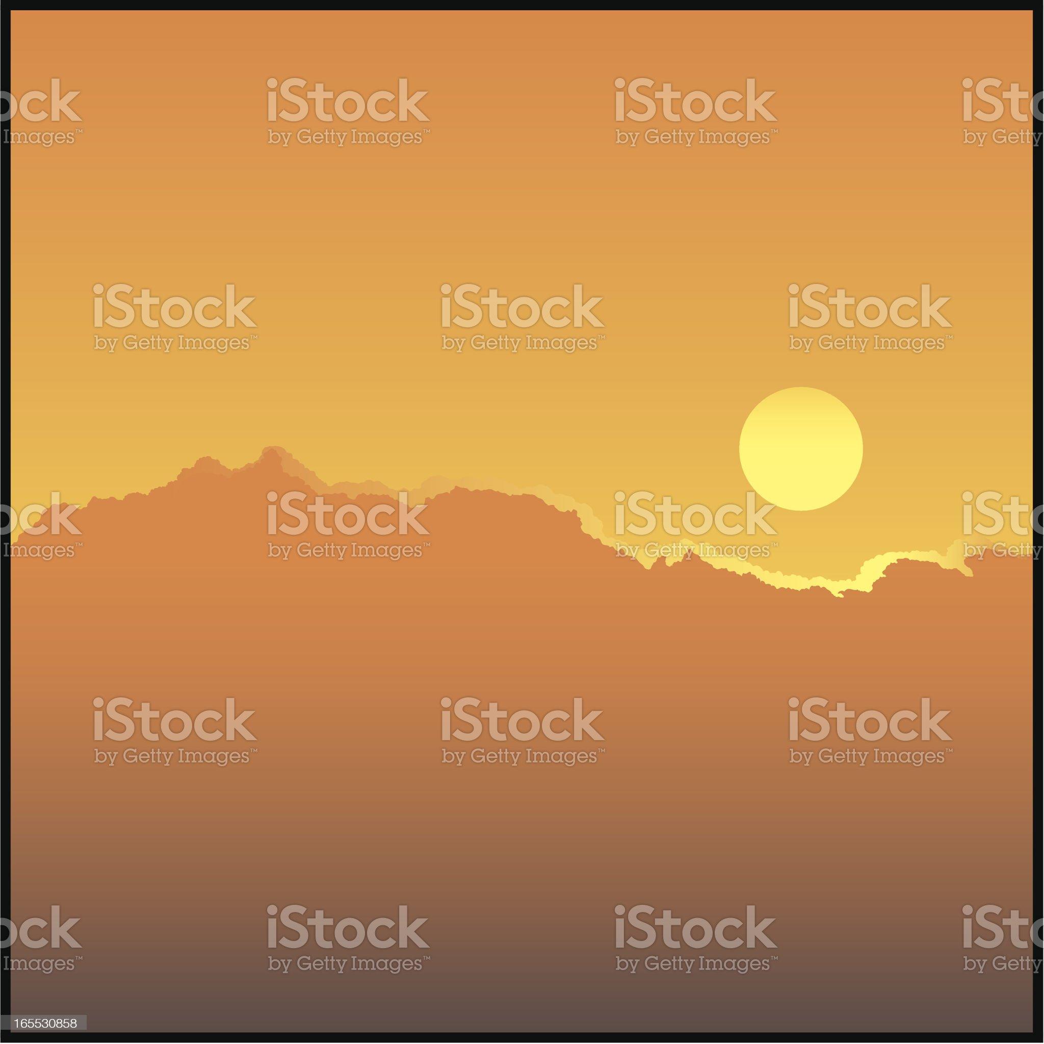 Clouds orange royalty-free stock vector art