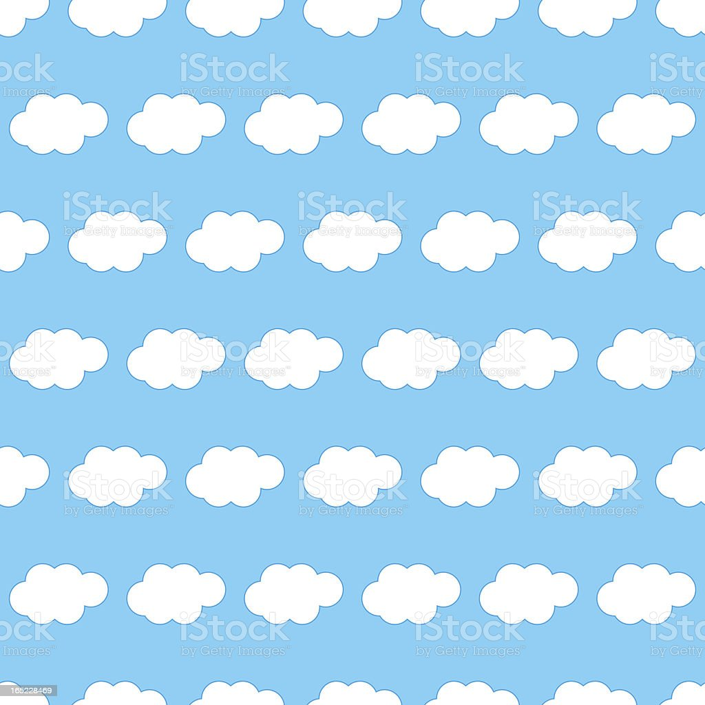 Clouds seamless background royalty-free stock vector art