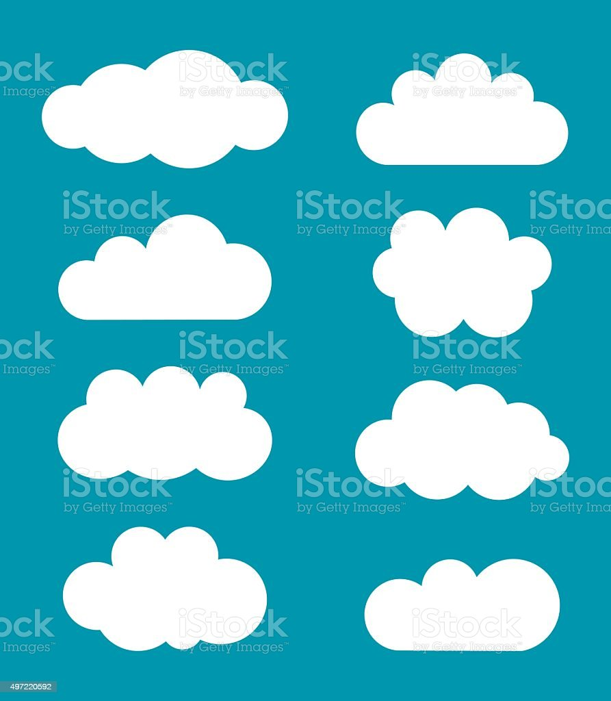 Clouds shapes vector vector art illustration