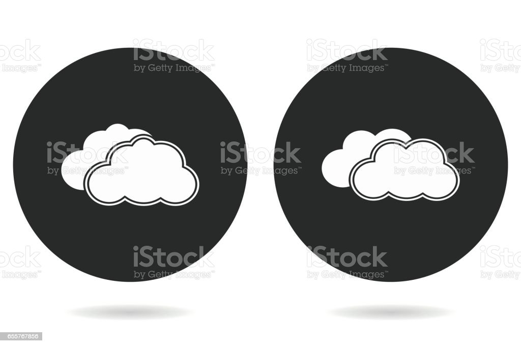 Clouds sky - vector icon. vector art illustration