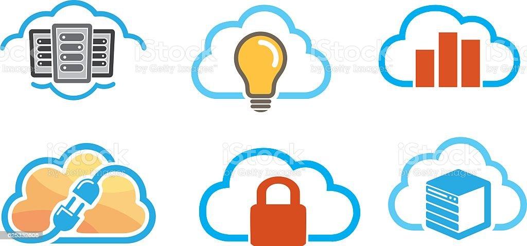 Clouds Symbol Design vector art illustration