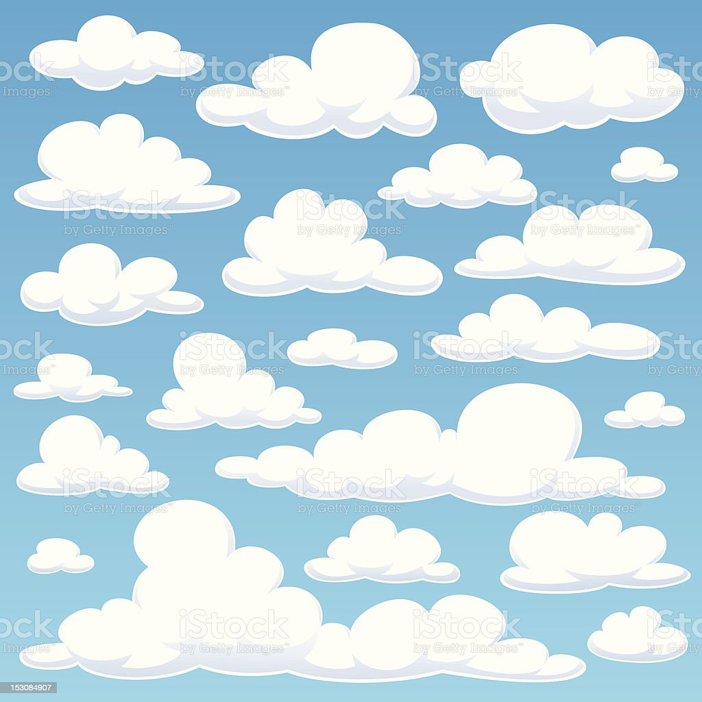 clouds royalty-free stock vector art
