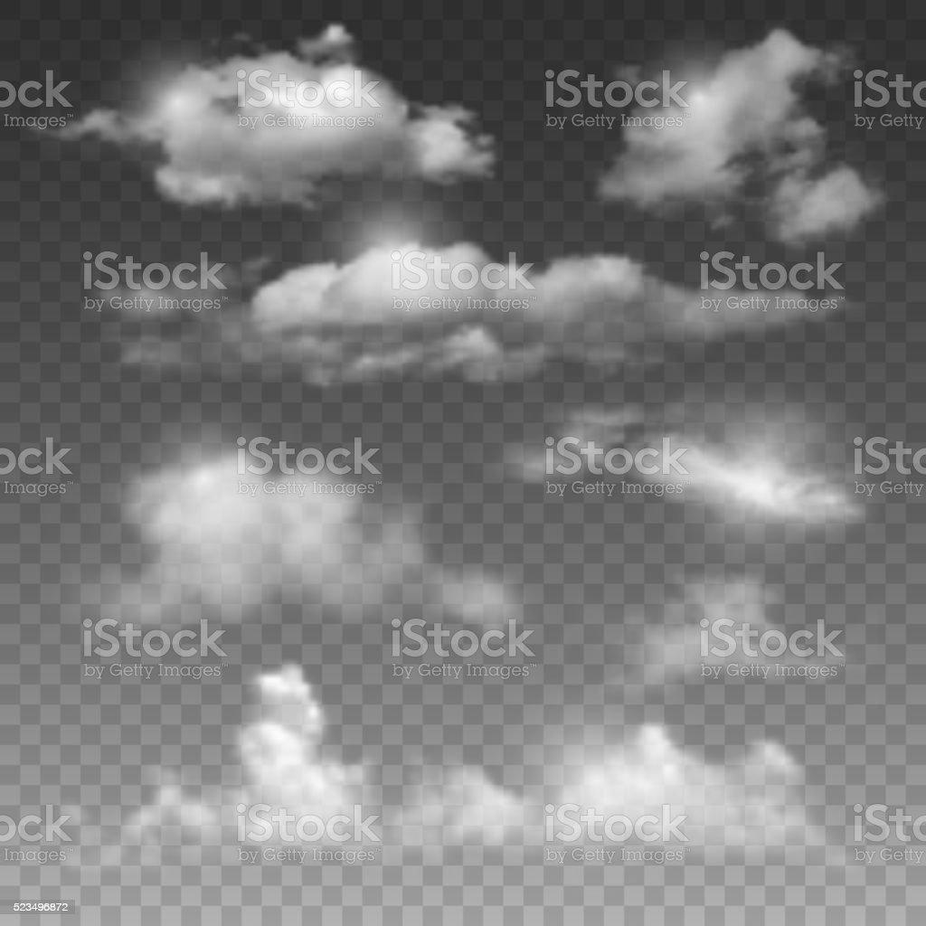 Clouds vector art illustration