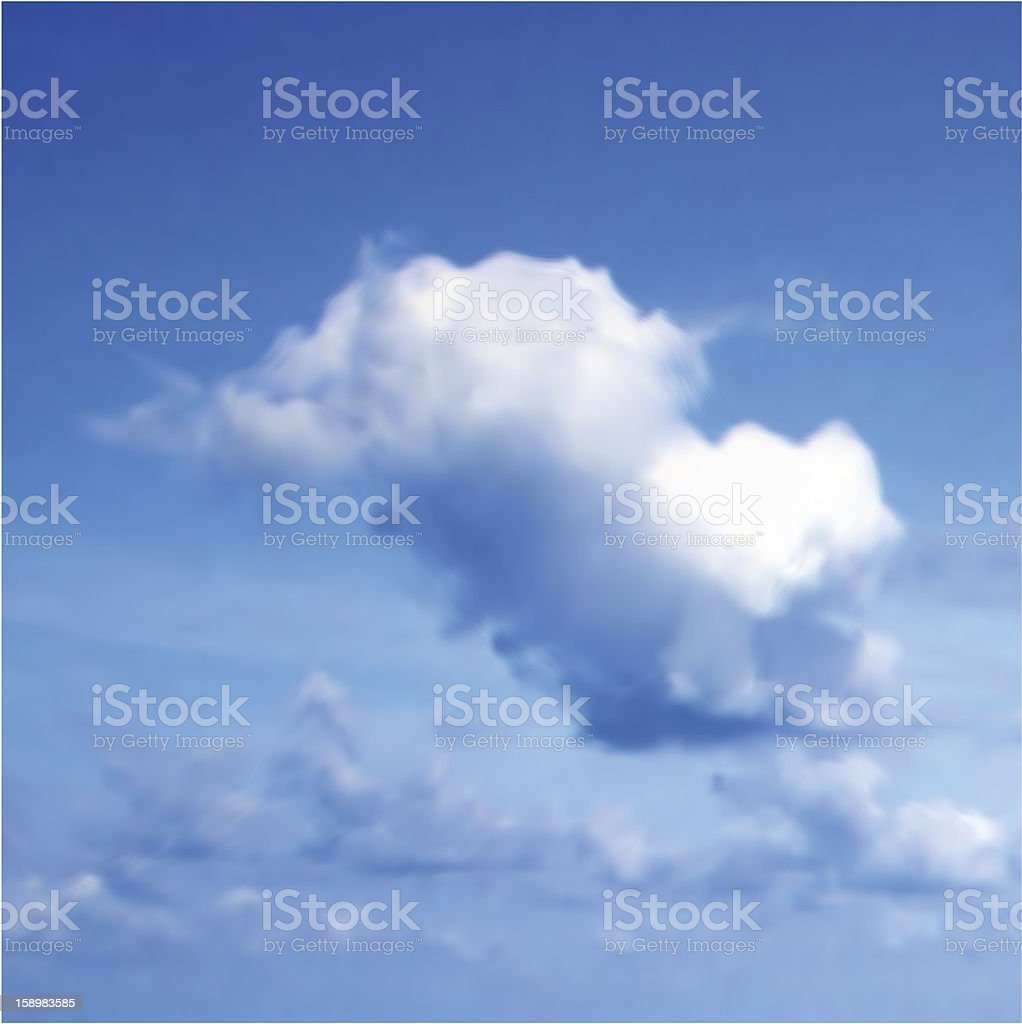 Clouds with blue sky. Vector royalty-free stock photo