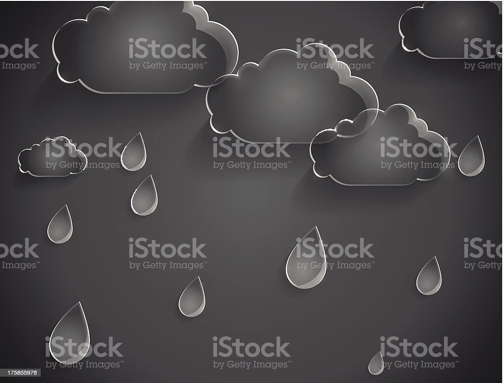 clouds with rain drops of glass royalty-free stock vector art