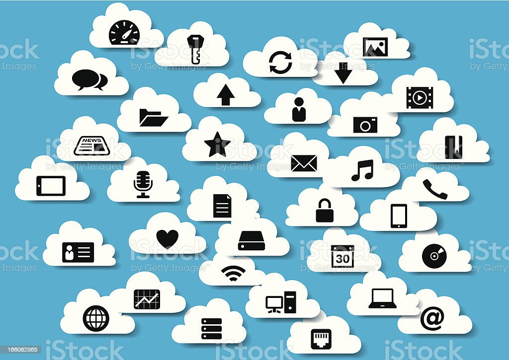 Cloudscape Icons (Cloud Computing) royalty-free stock vector art
