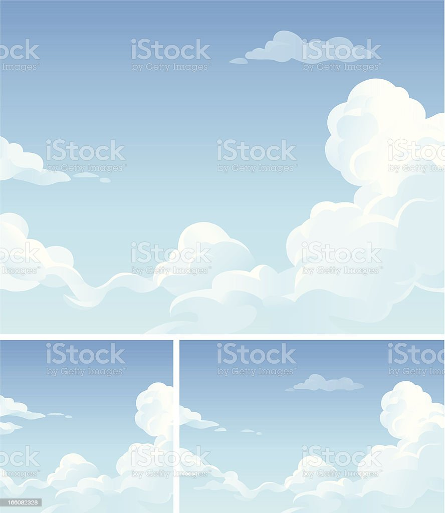 Cloudscape vector art illustration