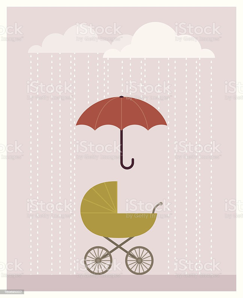 Cloudy Baby Buggy royalty-free stock vector art