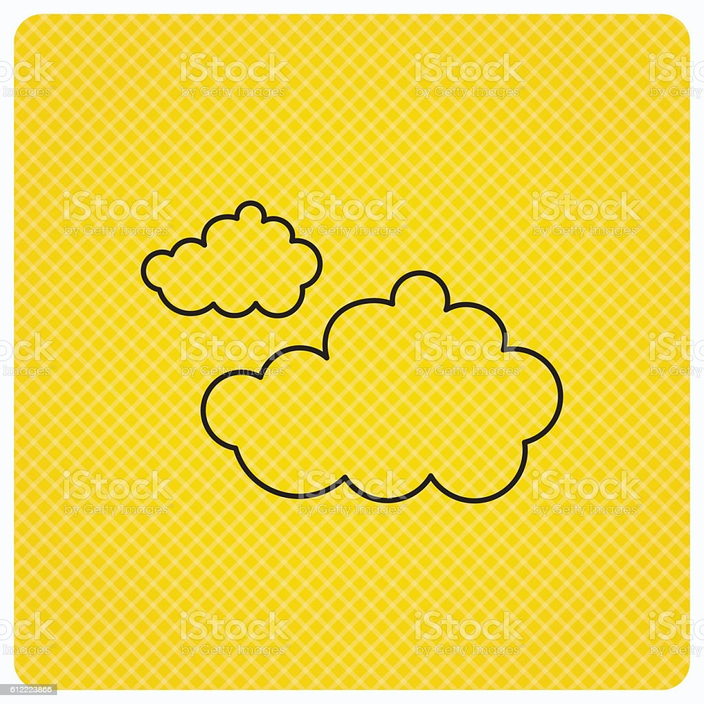 Cloudy icon. Overcast weather sign. vector art illustration